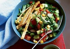 Mexicali Chop with Crunchy Tortilla Strips | Vegetarian Times