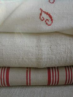 French linen and ticking