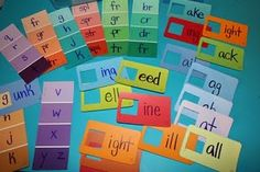 Paint chip word game.