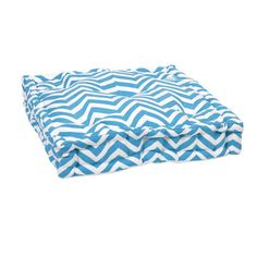 Floor cushions are easy to move around to accommodate a crowd, and we love this graphic pattern and bright blue. | $63.90