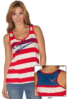 GIII Washington Capitals Womens Golden Arm Tank-Top - Shop.NHL.com