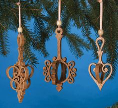 These were the ones I really liked.  Slide-Through Ornaments Scroll Saw Pattern
