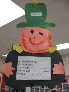 St. Patrick's Day activity from mrsmorrowskindergarteners website