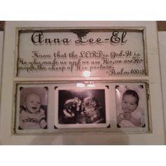 Shabby old window idea cricut vinyl and baby photos