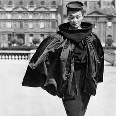 Anne Gunning wearing Balenciaga, 1951. Photo by Philippe Pottier.