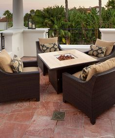 Take a look at this Delano Fire Pit Table Five-Piece Set by RST OUTDOOR on #zulily today!