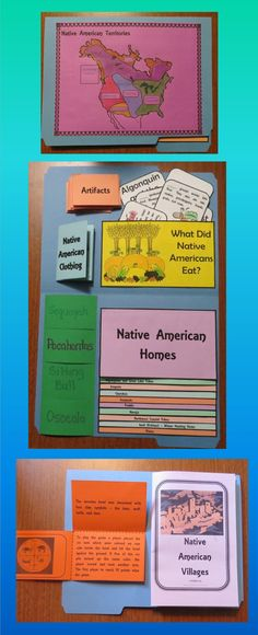 This free Native American Lap Book contains 9 interactive organizers.  Topics include the following:   * Native American Territories Map  * Native American Homes - Staggered Flip Book  * Matching Activity – Native American Foods  * Famous Native Americans – Flip Organizer  * Artifacts – Accordion Fold  * Native American Clothing – Mini Book  * Native American Villages – Book  * Regions – Diamond Fold  * Recreation/Games - ¾ Fold