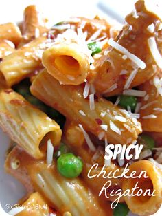 Spicy Chicken Rigatoni Recipe. Tastes like it came right from Bucca Di Beppo! http://www.sixsistersstuff.com/2012/05/bucca-di-beppo-spicy-chicken-rigatoni.html #dinner #recipes