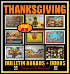 Thanksgiving Bulletin Boards and Decorated Doors Part 2 via RainbowsWithinReach