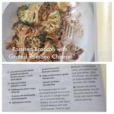 Roasted Broccoli with Grated Romano Cheese  (Martha Stewart Living: Jan/Feb 2013)