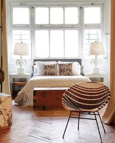 ! interior, chair, bedroom decor, floor, cozy bedroom, windows, bedrooms, homes, bedroom designs
