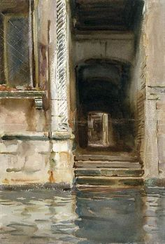 Venetian Passageway, 1905. Watercolor, gouache and graphite on paper by John Singer Sargent (American, 1856-1925).