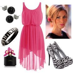 Pink and Zebra...  for @Chace Wachter Wachter Holmes.. you would look so pretty in this outfit!