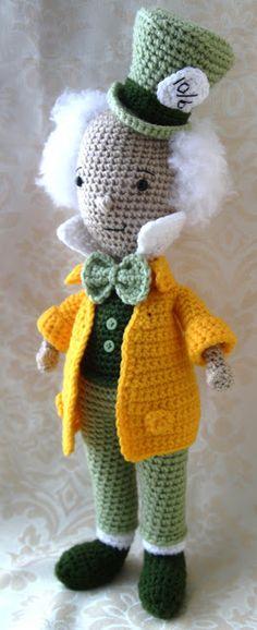 Mad Hatter Amigurumi : amigurumi bekende figuren on Pinterest Amigurumi, Hello ...