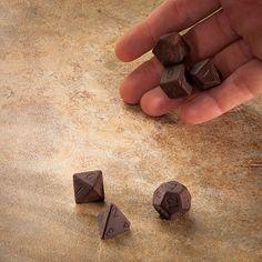 Chocolate gaming dice.