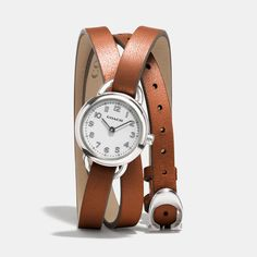 Dree Stainless Steel Wrap Watch from Coach