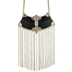 Teatro Moderne Gold Fringed Bib Necklace :: Necklaces :: Jewelry By Category :: Alexis Bittar
