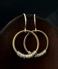 Smooth Accent 14kt Gold Filled and Sterling Silver by unkamengifts