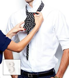 How to tie your man's tie  @Who What Wear