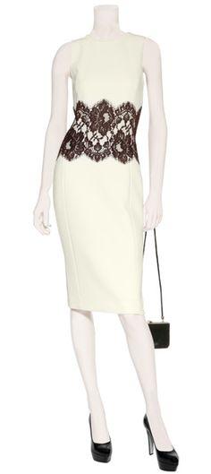 black lace, fashion, cloth, style, ivori dress