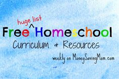 Check out this HUGE list of FREE homeschool curriculum, resources, printables, and more!
