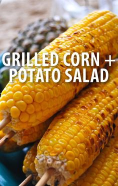 Carla Hall whipped up a special Grilled Corn with Tarragon recipe and Loaded Creamy Potato Salad recipe with the help of Carter Oosterhouse. http://www.recapo.com/the-chew/the-chew-recipes/chew-grilled-corn-tarragon-recipe-loaded-creamy-potatoes/