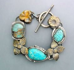 Turquoise and Goldenrod by Temi on Etsy, $260.00
