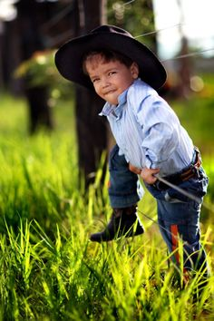 I love this little cowboy