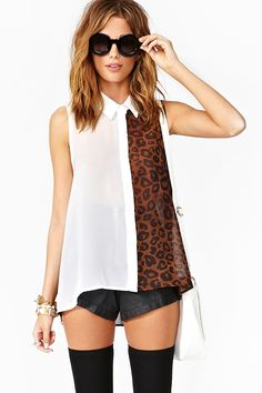 Wild Side Blouse in White