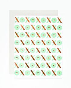 XOXO Letterpress & Copper Foil Card | Sycamore Street Press