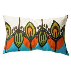 Coptic Pillow orang, pattern, guest bedrooms, koko compani, cushion covers, crewel embroidery, throw pillow, pillows, coptic