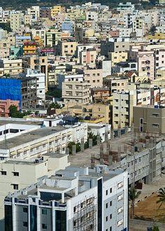 Hyderabad, India building scene