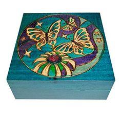 Butterflies Wooden Polish Box