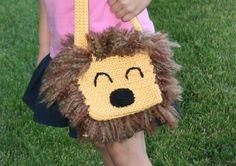 Crochet Lion Purse by GoodKarmaCrochet on Etsy, $28.00