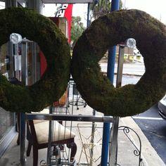 Thrift store- moss wreaths