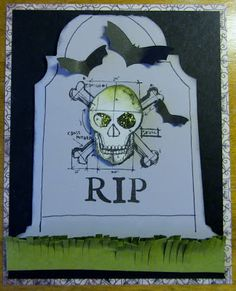 Expression Avenue: Spooky and Scary RIP Tombstone Halloween Card made with my Silhouette