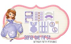Sofia the First Birthday Party Freebie | Peonies and Poppyseeds