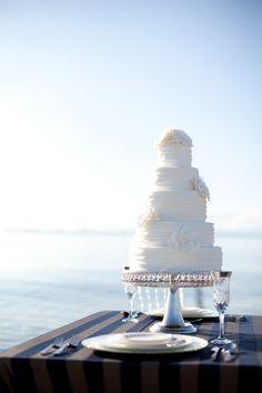 ♥ #beach #wedding #cake