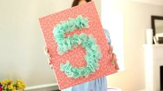 A Birthday to Remember: How to Make A Tissue Paper Birthday Number Sign