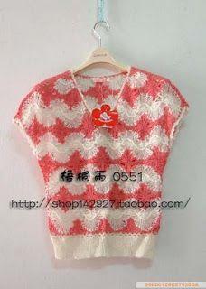 de grampo, en horquilla, crochet horquilla, con horquilla, blusa dama, hairpin lace, blusa tejida