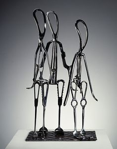 Recycled medical tools.