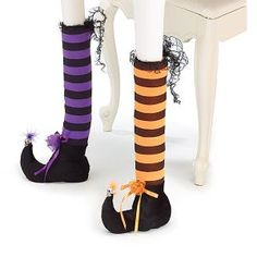Witch table leg covers are such a fun and cute way to jazz up your tables durning the Halloween season!