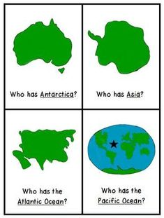 Continents and Oceans I Have Who Has Game