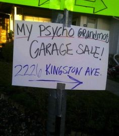 This garage sale could be scary...