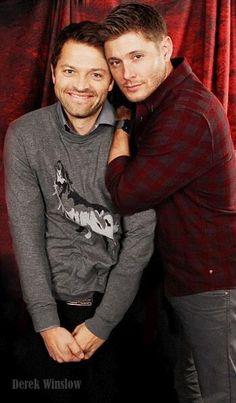 Misha Collins and Jensen Ackles