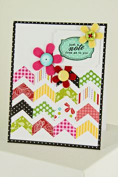 Patterned Chevrons Card by Erin Lincoln for Papertrey Ink (May 2012)