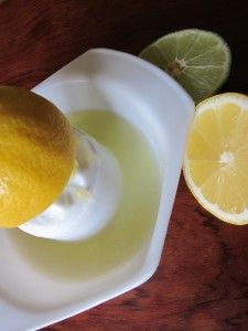 Who needs a fancy lemon squeezer.  These old fashion lemon juicers are the best!