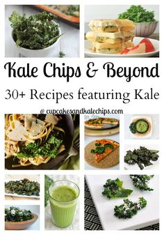 30+ Recipes for Kale Chips and  Beyond | cupcakesandkalechips.com | #kalechips