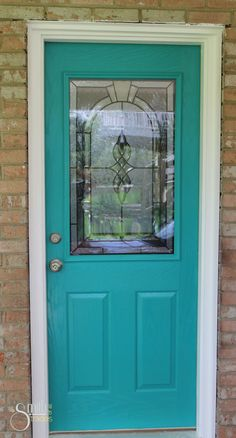 I want to paint my front door like this!!