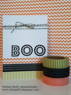 A Muse Studio new products available August 1st - New Orange Chevron Paper & Halloween Washi Tape
